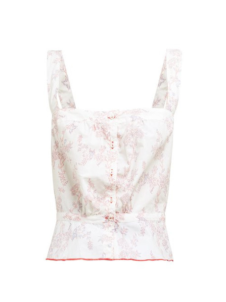 Thierry Colson - Rosa Floral Print Cotton Top - Womens - Pink Multi