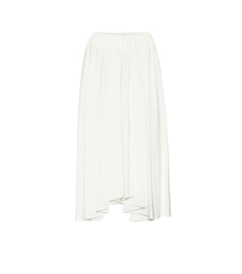 Jil Sander High-rise midi skirt in white