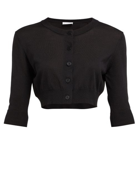 Altuzarra - Anita Cropped Silk Blend Knit Cardigan - Womens - Black