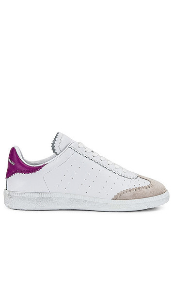 Isabel Marant Bryce Sneaker in White in pink