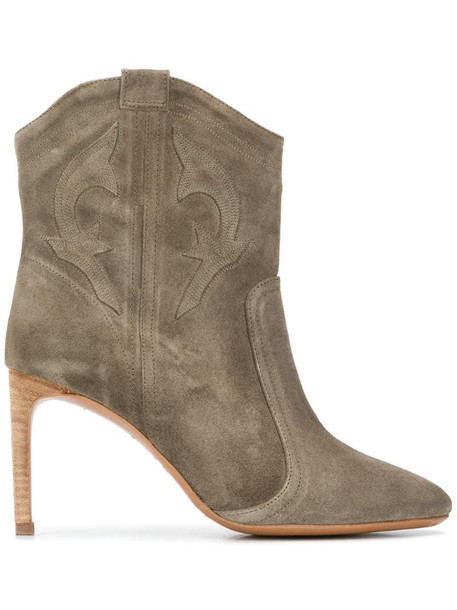 Ba&Sh Caitlyn ankle boots in green