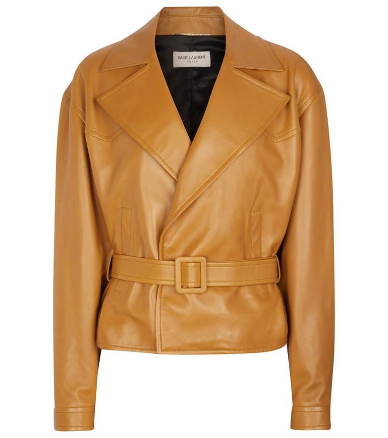 Saint Laurent Leather jacket in brown