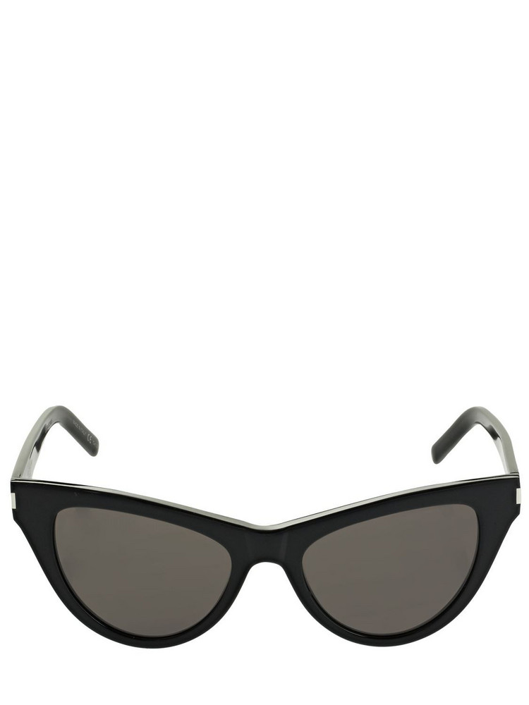 SAINT LAURENT Sl 425 Cat-eye Acetate Sunglasses in black / grey
