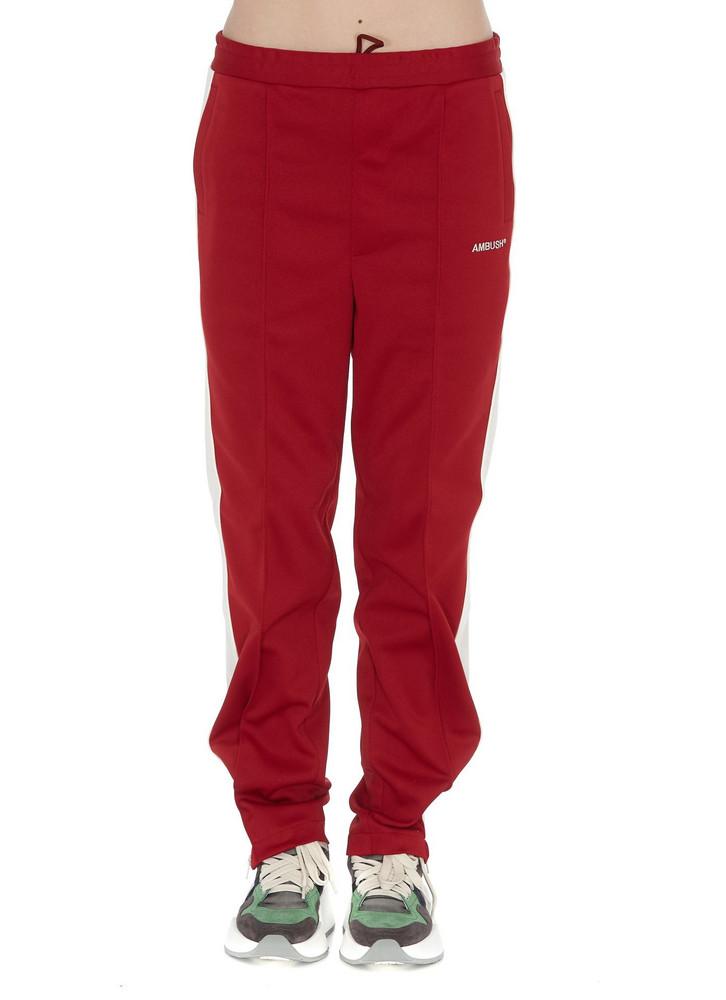 Ambush Waves Track Pants in red