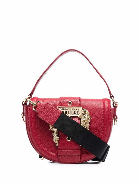 Versace Jeans Couture logo-buckled tote bag - Red