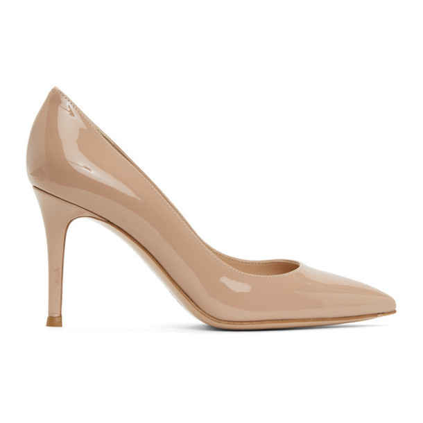Gianvito Rossi Pink Gianvito 85 Heels in peach