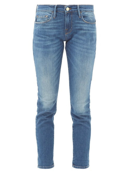 Frame - Le Garcon Slim-leg Cropped Jeans - Womens - Blue