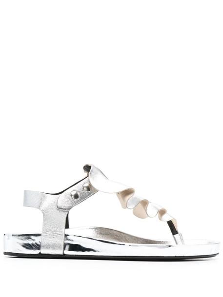 Isabel Marant ruffle-trim sandals - Silver