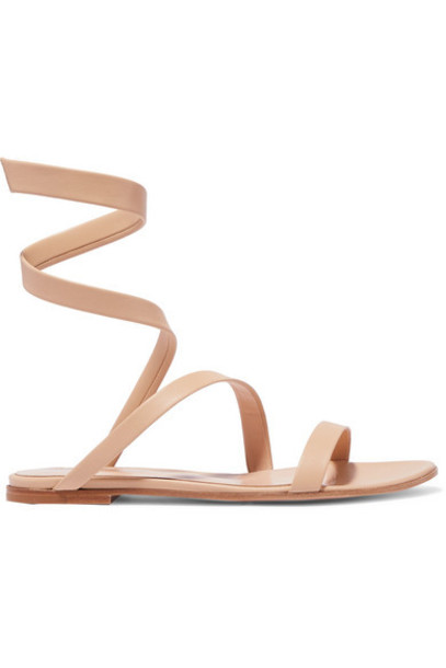 Gianvito Rossi - Opera Leather Sandals - Neutral