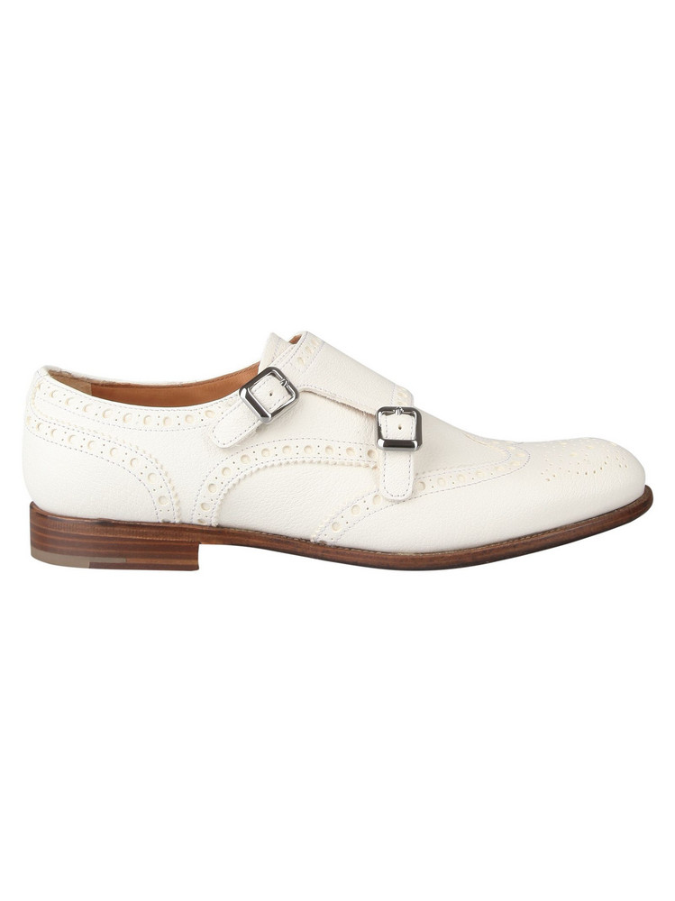 Church's Double Buckle Monk Shoes in white