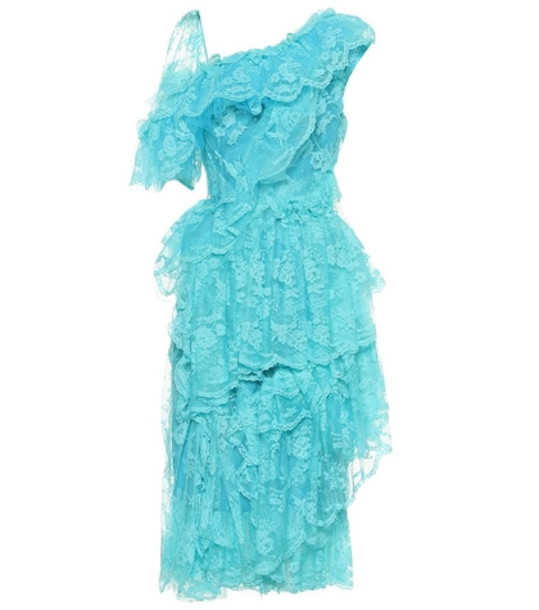 Preen by Thornton Bregazzi Cecilia lace dress in blue