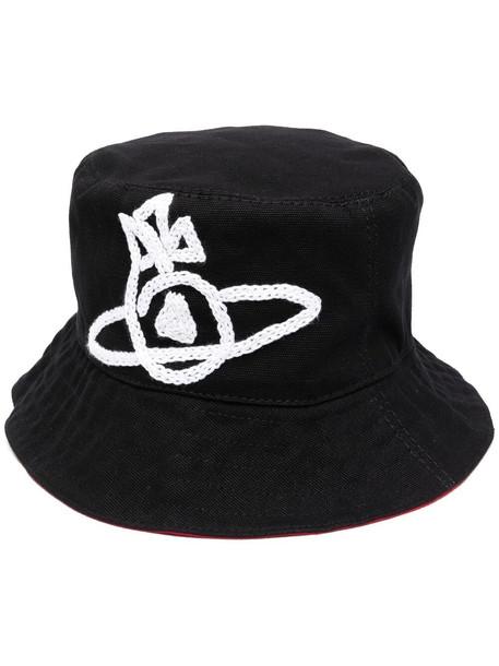 Vivienne Westwood motif-detail bucket hat - Black