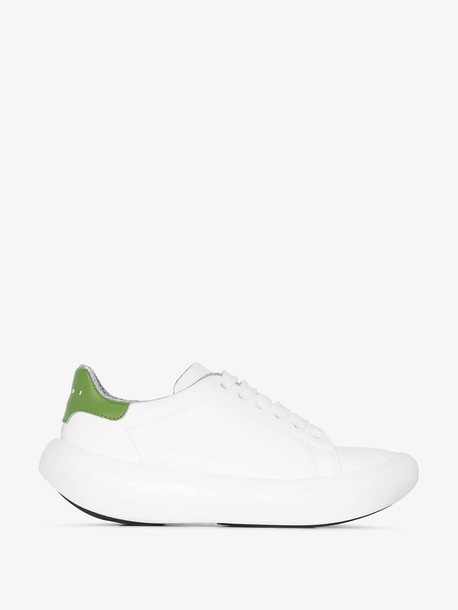 Marni White Chunky Leather sneakers