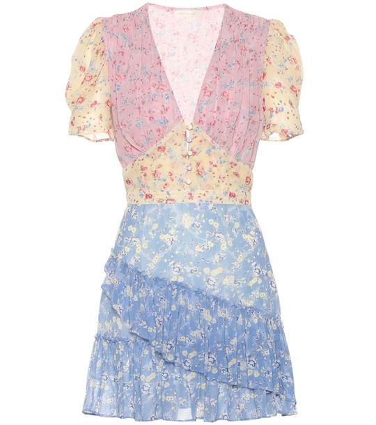 LoveShackFancy Bea floral silk minidress
