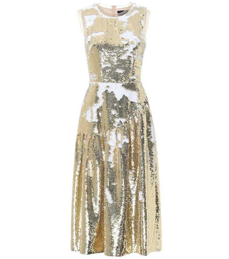 Simone Rocha Sequined midi dress in gold