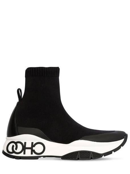 JIMMY CHOO 40mm Raine Knit Sock Sneaker in black
