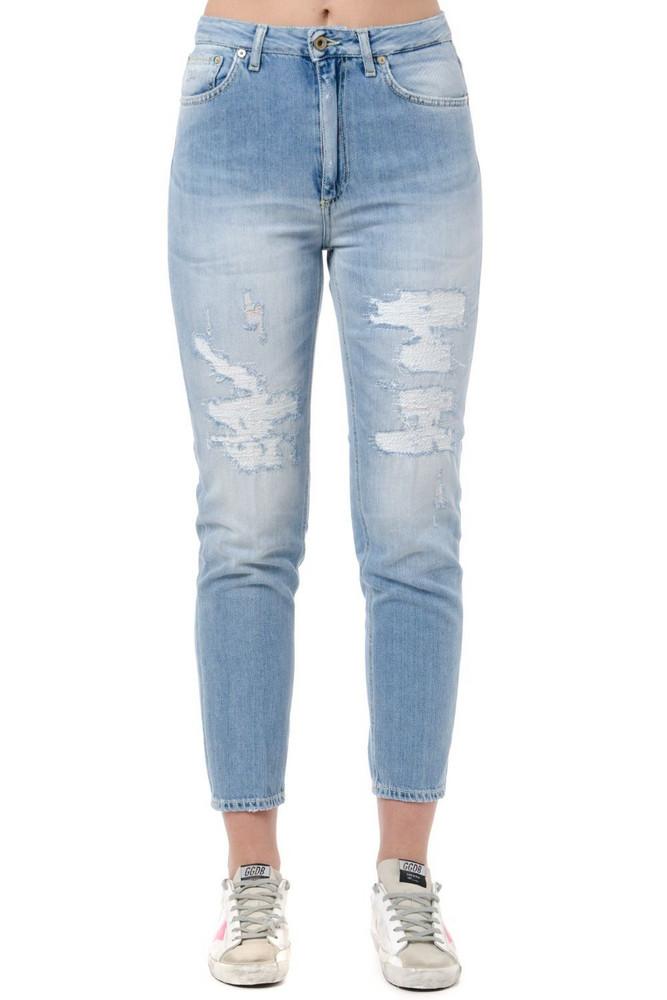 Dondup Danya Cotton Teared Jeans in denim / denim