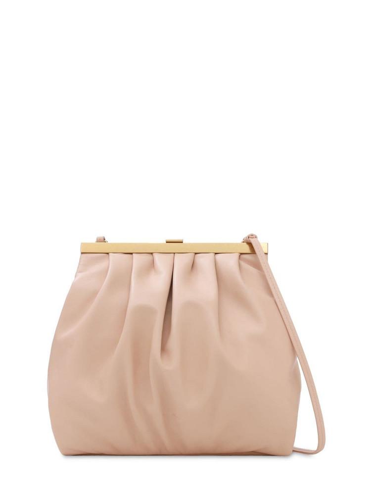 MANSUR GAVRIEL Frame Leather Shoulder Bag in pink