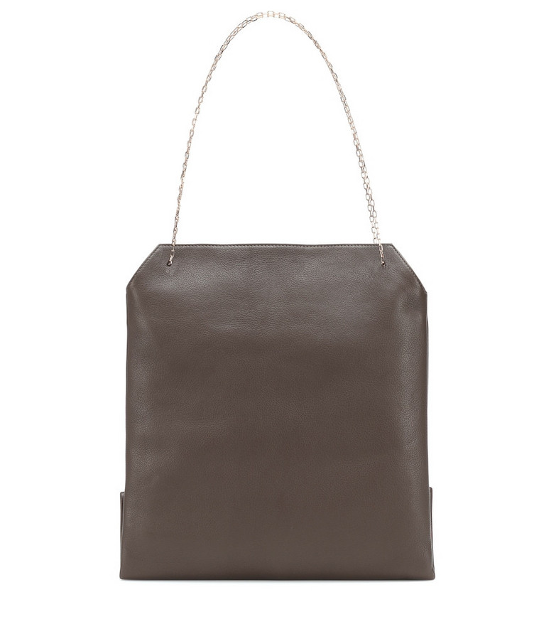 The Row Lunch Medium leather shoulder bag in brown