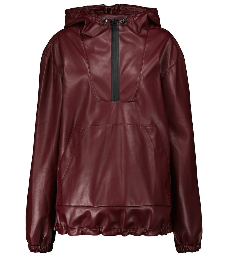 Deveaux New York Parker faux leather jacket in red