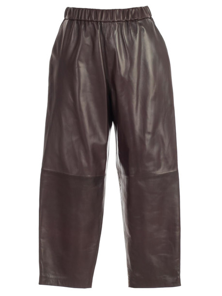 Dusan Pants Leather Elastic in chocolate