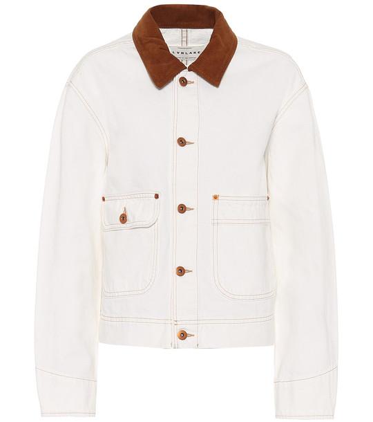 Slvrlake New Thompson denim jacket in white