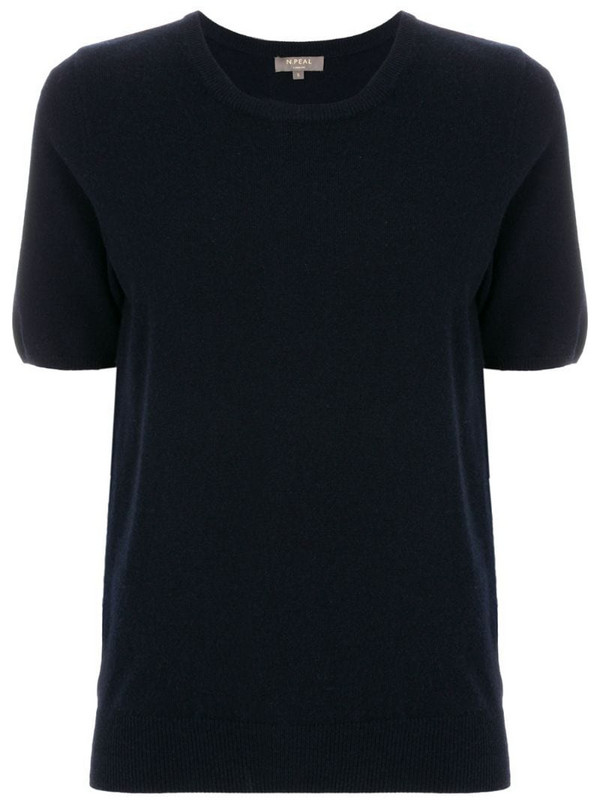 N.Peal cashmere round-neck T-shirt in blue