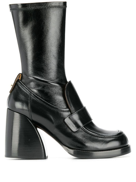 Chloé penny loafer boots in black
