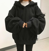 sweater,black oversized hoodie