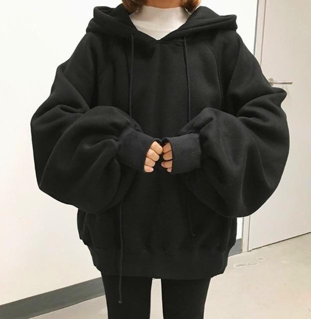 sweater black oversized hoodie