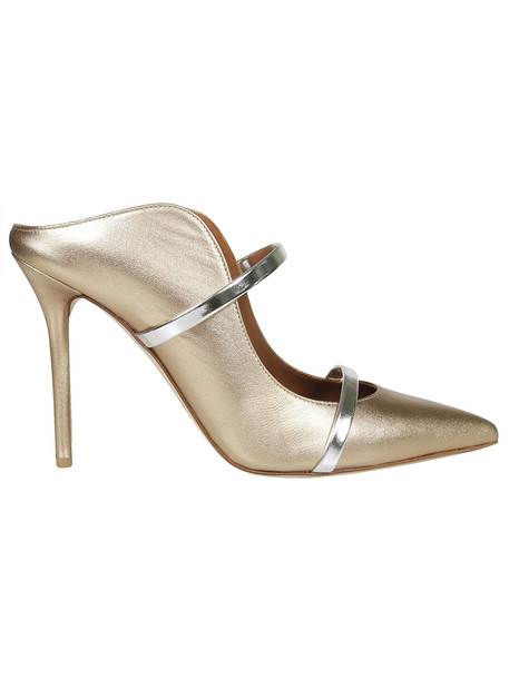 Malone Souliers Maureen 100 Pumps in gold / silver