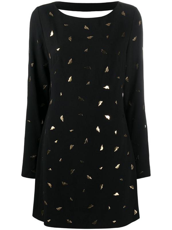 DVF Diane von Furstenberg lip-pattern short dress in black