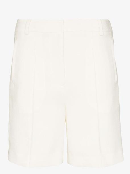 XU ZHI high-waisted long shorts in white