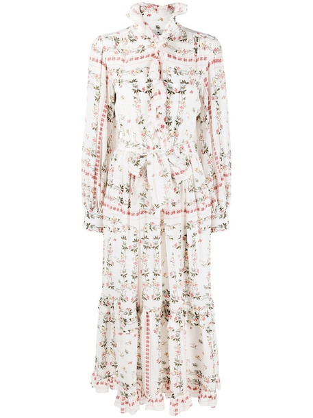 Etro ruffled floral maxi dress in white