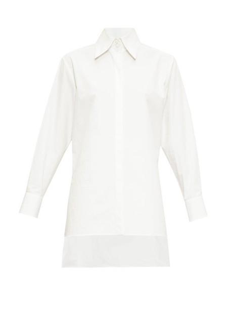 Fendi - Point Collar Poplin Shirt - Womens - White