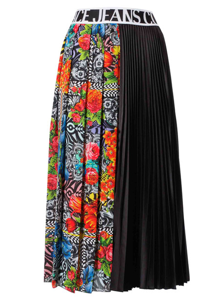 Versace Jeans Couture Pleated Skirt in black