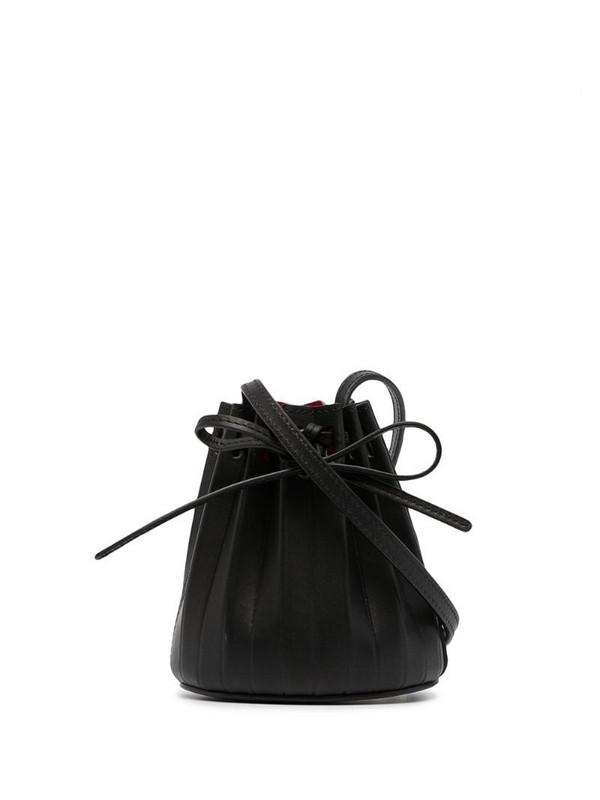 Mansur Gavriel Baby pleated bucket bag in black