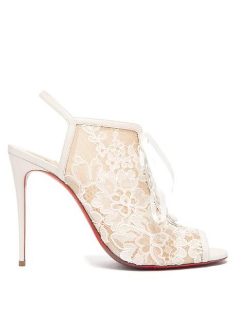 Christian Louboutin - Mariée À Colmar 100 Leather Sandals - Womens - White