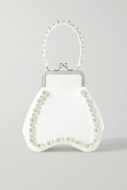 Simone Rocha - Bean Embellished Leather Tote - Ivory