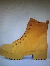 shoes,yellow,yellow shoes,combat boots,boots