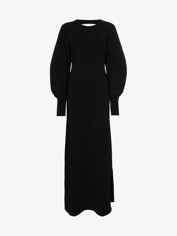 Esteban Cortazar cut out back maxi dress in black