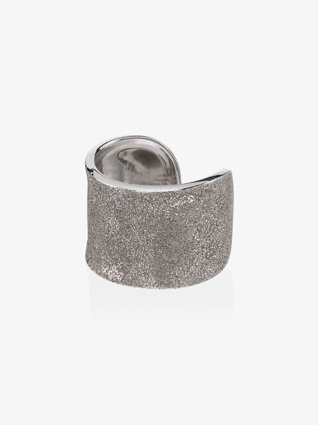 Carolina Bucci Florentine 18K white gold cuff ring