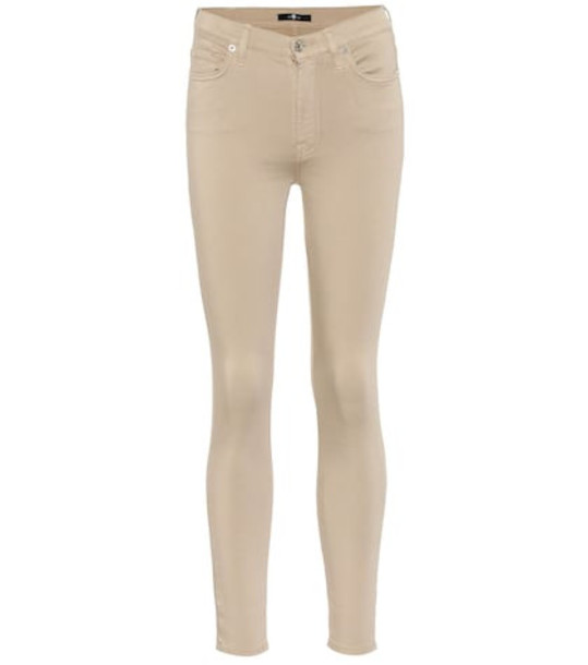 7 For All Mankind The Skinny high-rise jeans in beige