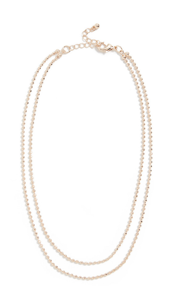 Theia Jewelry Nicola Short Double Necklace in gold