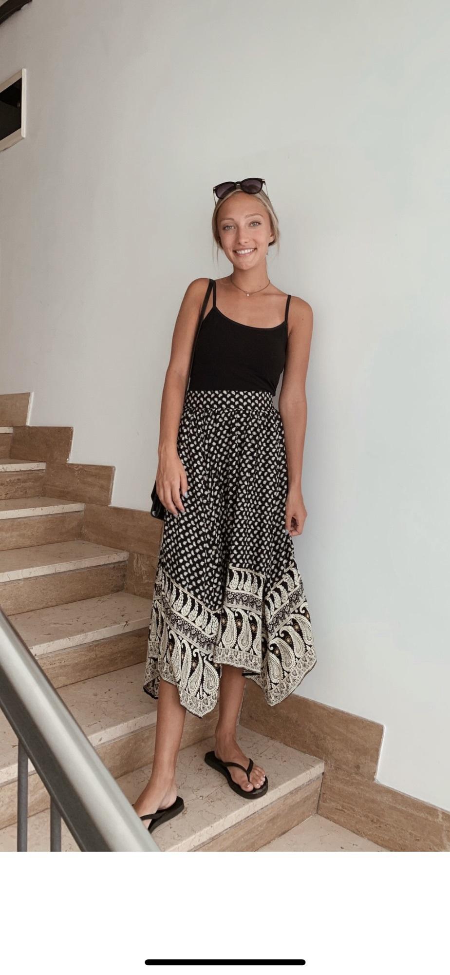 bag maxi skirt skirt paisley