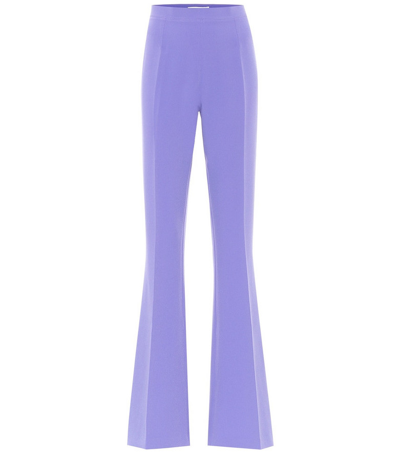 Safiyaa Halluana high-rise flared pants in purple