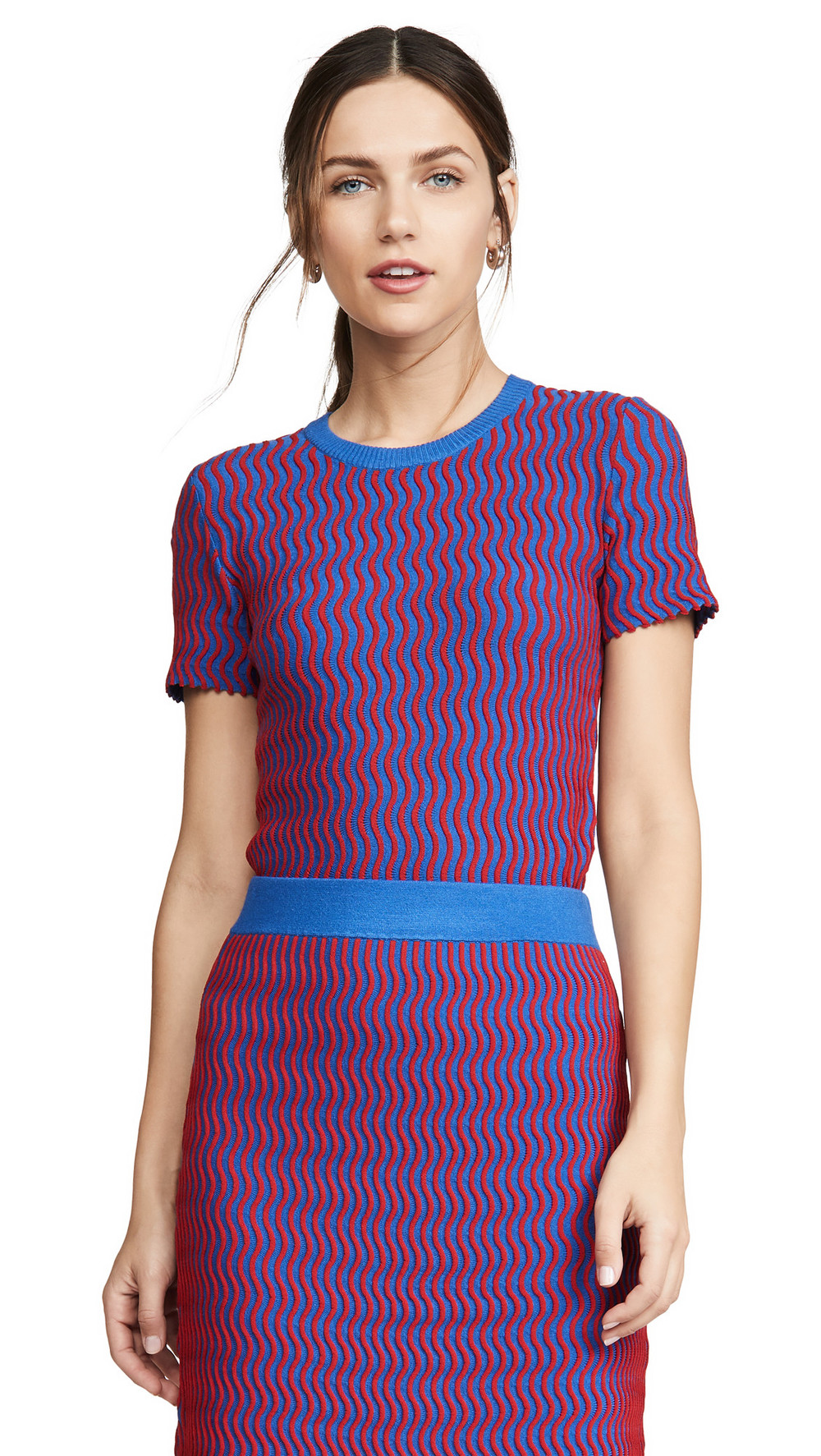 Opening Ceremony Squiggle Sweater in cobalt