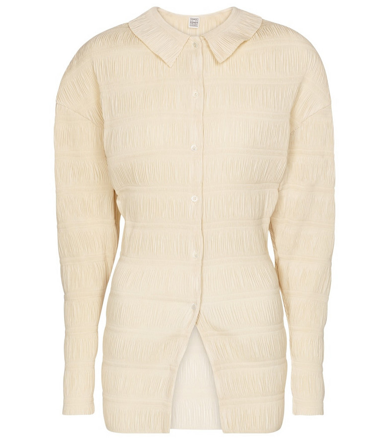 Toteme Exclusive to Mytheresa – Anzi smocked top in beige