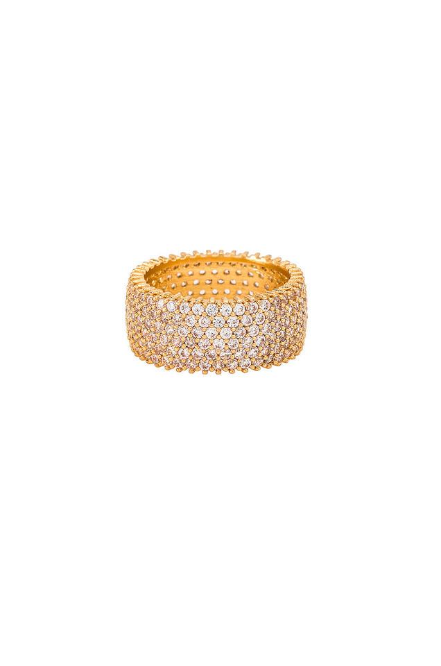Ettika Diamond Band Ring in gold / metallic