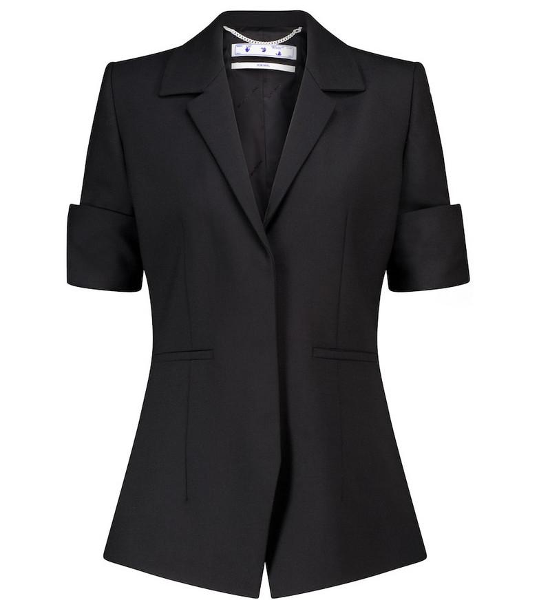 Off-White Sailor embroidered blazer in black